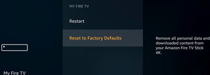 reset to factory defaults