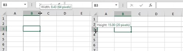 excel expand cell