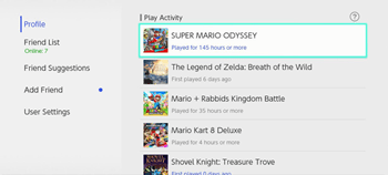 how many hours played on the nintendo switch