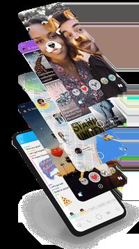 Verwenden Sie 2 Snapchat-Filter gleichzeitig