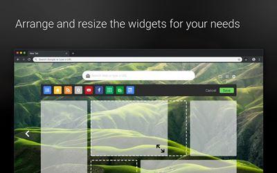 Add widgets to Start - A Better New Tab