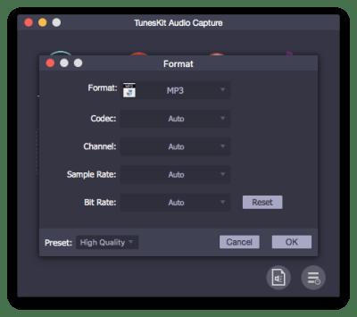Audio parameters