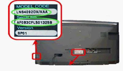 Samsung TV model number