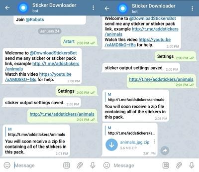 Telegram Search Stickers