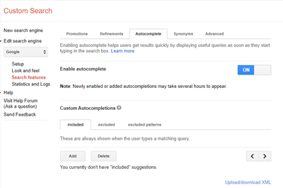 automatic search engine completion