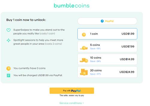 bumble coin