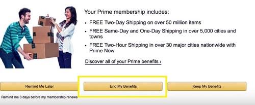 to terminate my benefits
