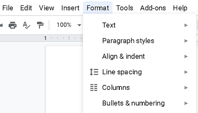 how to delete blank page in google docs