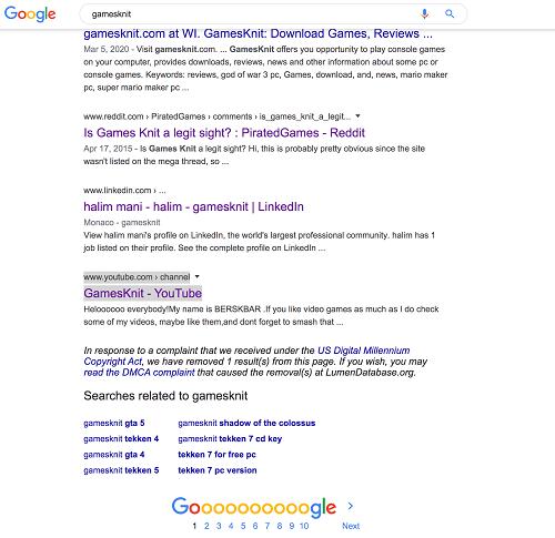 is gamesknit safe - google