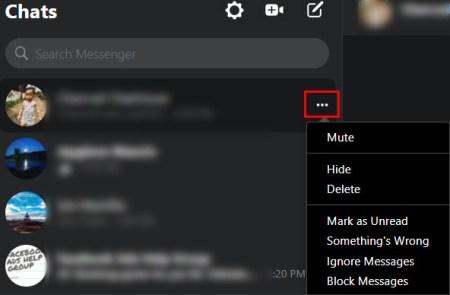 Como apagar todas as mensagens do messenger lite