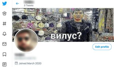 entferne dein Profilbild in Twitter