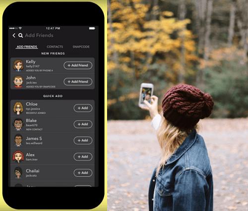 Snapchat Send friend request
