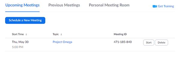 Zoom Hold the same meeting ID