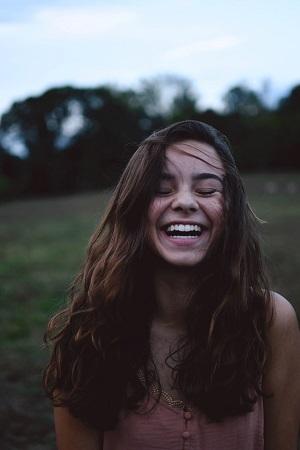 Bildunterschrift über das Lächeln für Instagram