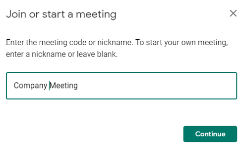 name of the meeting