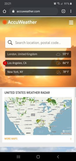 Delete locations Accuweather