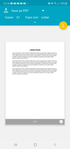 How to create a PDF file from an Android