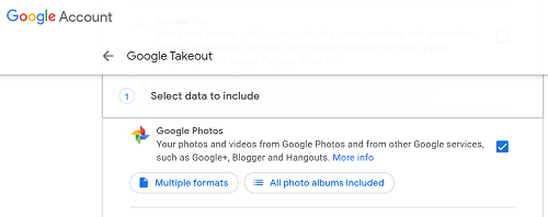 Save Google Photos to a Gallery