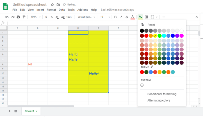 Font in Google Sheets
