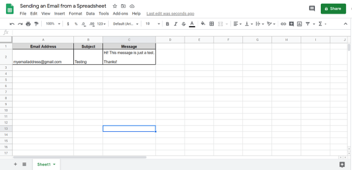 Google Sheets How To Trigger Email Send