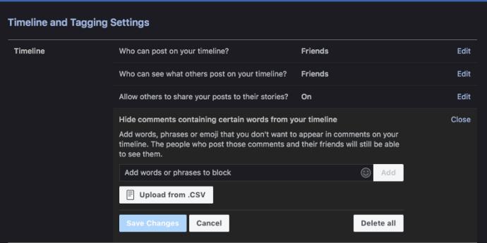 Como desativar comentários no seu perfil do Facebook