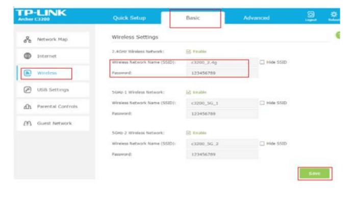 Change WiFi Password TP Link AC1750
