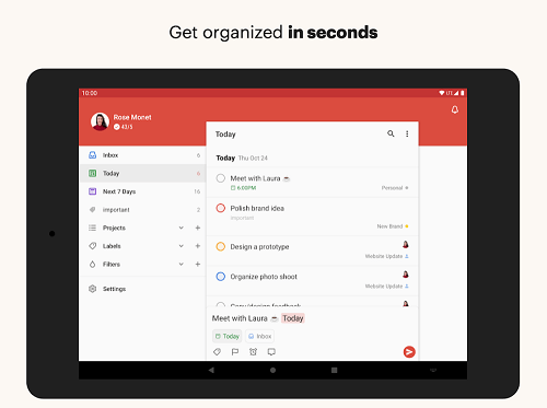 Create Subproject on Todoist
