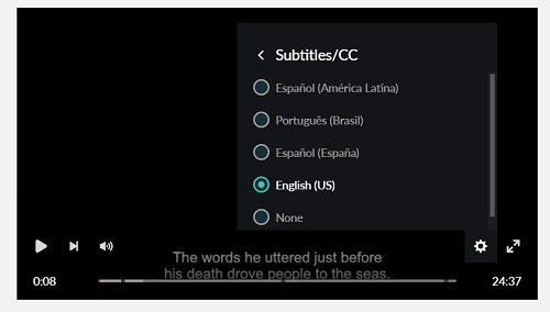 how to turn on subtitles