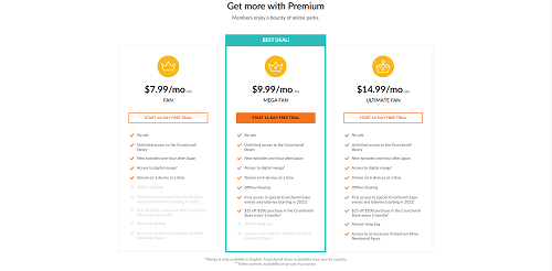 the difference between crunchyroll premium and premium plus