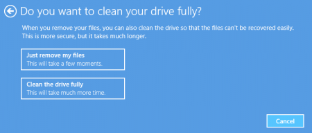 Difference Between Refresh and Reset - clean your drive