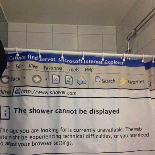 shower cannot be displayed