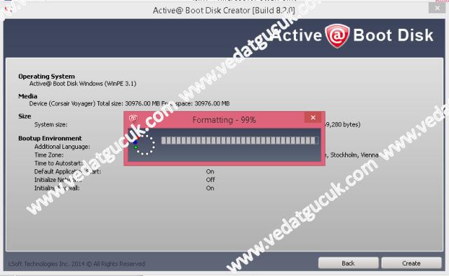 Active Boot Disk Kullanımı ve Özellikleri