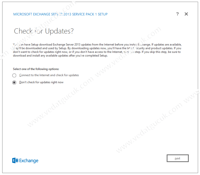 Microsoft Exchange Server 2013 Kurulum