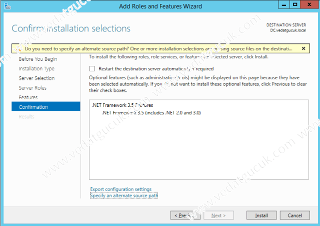 Server 2012R2 Net35 Feature Install Failed