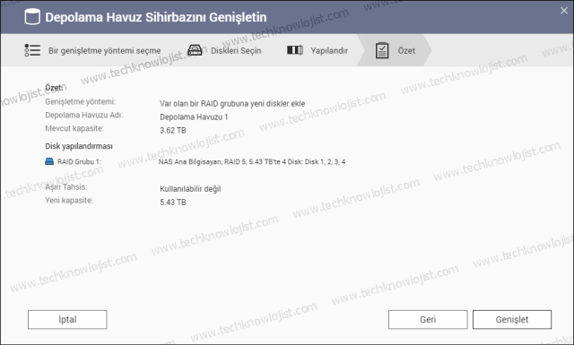 QNAP RAID5 Add New Disk