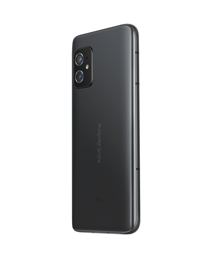 The ASUS ZenFone 8 in its Obsidian Black color