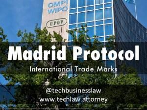 Filing International Trademark Application Under Madrid Protocol