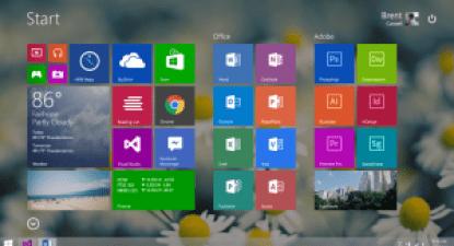 Windows 9 Start Screen