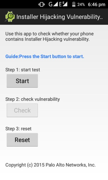 android hijack scanner