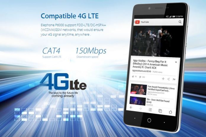 elephone p6000 network