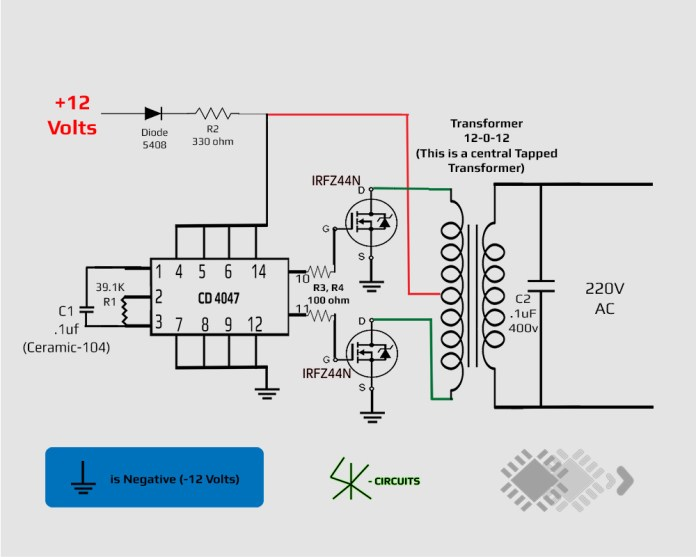 inverter circuit using CD-4047