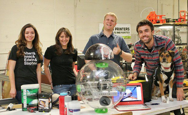 The Sparkfun team responsible for building the Droid @Make Magazine