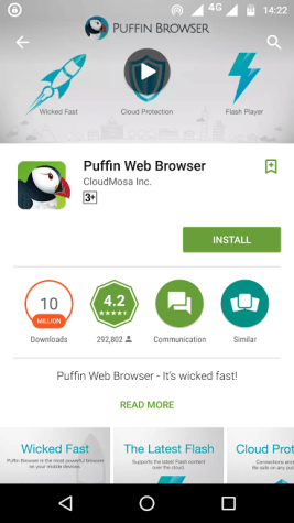 puffin web browser - best android browsers