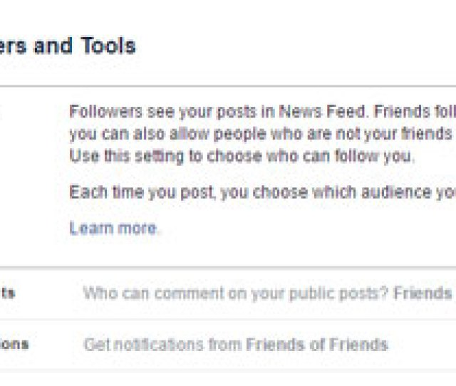 Facebook Follower Privacy Settings