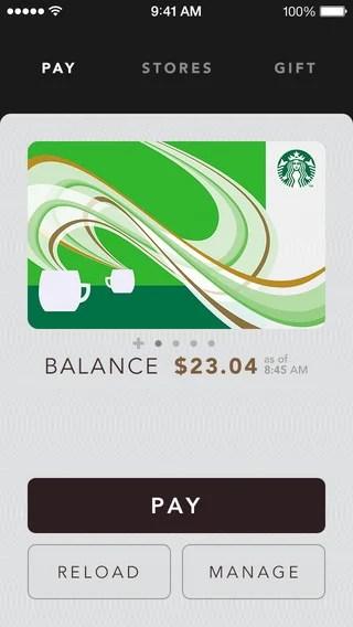Starbucks apps