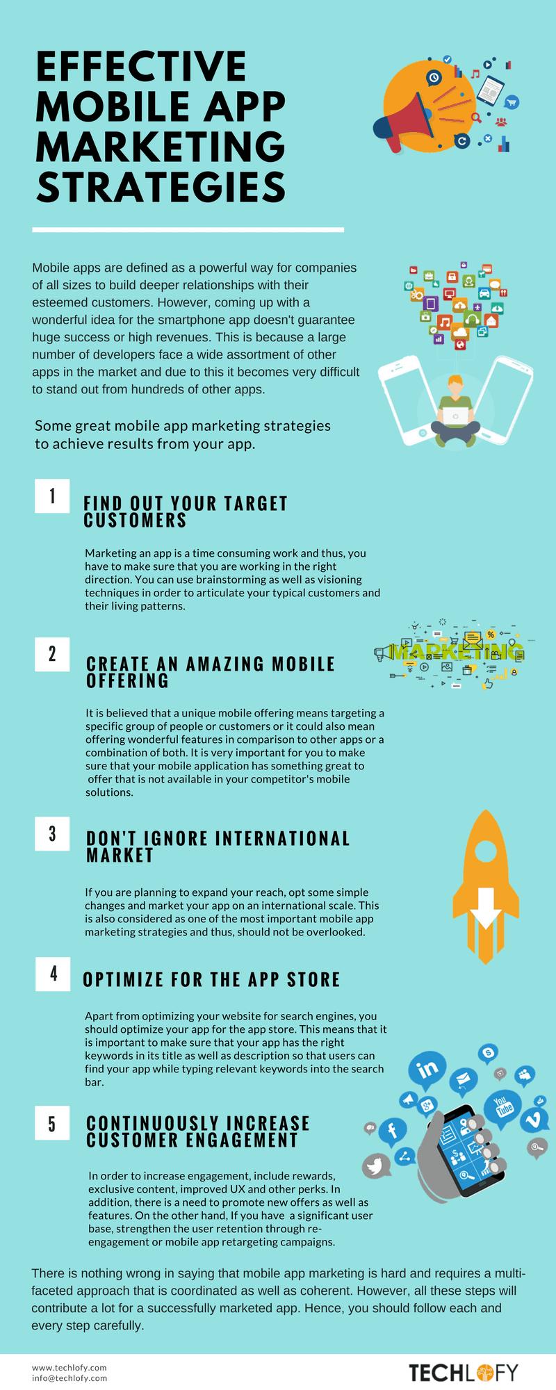 Mobile App Marketing Strategies - Infographic