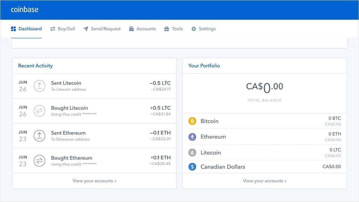 coinbase exchange btc to ltc