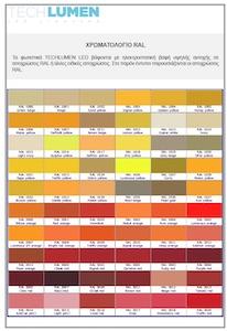 TECHLUMEN Color Chart - TECHLUMEN LED Lighting