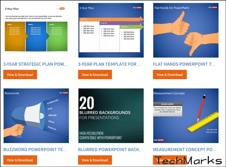 PowerPoint『PPT免費簡報素材』魚骨圖,流程圖,動畫特效等精美模板。 | TechMarks 劃重點