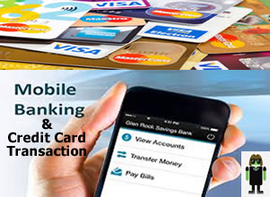 Credit cards mobile banking